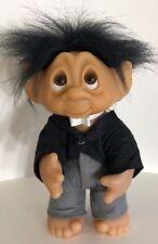 "Norfin Groom 9"" Thomas Dam Troll Doll - 1977/1985 - Black Hair"