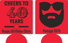cheers to 40 years 40th Birthday beard can coolers 12915283