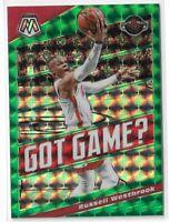2019-20 Panini Mosaic basketball Green Mosaic Got Game? Russell Westbrook
