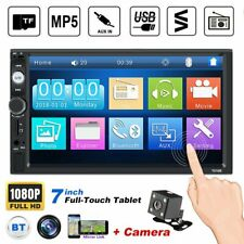 "7"" Double 2 Din Car Mp3 Mp5 Player Bluetooth Touch Screen Stereo Radio + Camera"