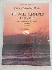 Bach Well Tempered Clavier Vol 1 Piano Bischoff Ed Unmarked