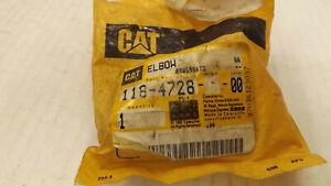NEW OEM CAT Caterpillar 118-4728: 90° Elbow Adapter