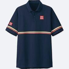 UNIQLO x Kei Nishikori 2018 DRY-EX Polo Shirt XL NAVY BLUE w/ Stripes **NWT**