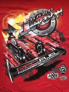 "NHRA DRAG RACING ""TOP FUEL DRIVER"" SHAWN LANGDON T- SHIRT Red  SIZE XL"