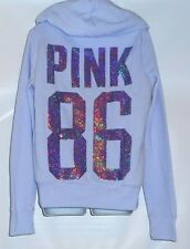 Victoria's Secret Pink 86 Limited Edition 2013 Bling Sequin Fur Lined Hoodie M