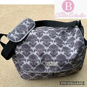 The Bumble Collection Diaper Bag Amber Tote Gray Black Print
