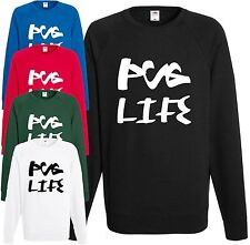 Pug Life Sweatshirt Thug Jumper Top Xmas Cool Dog Pets Funny Christmas Rap Gift