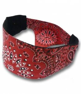 RED ... Chop Top Head Wrap / Bandana Capsmith New  ... RED w/  Bling