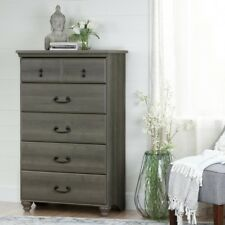 5-Drawer Gray Chest Dresser Room Bedroom Classic Decor Storage Clothes Jewelry