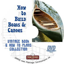 How To Build Canoes and Boats - { Vintage Woodworking Plans } on DVD