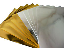 A4 Gold & Silver Metallic Paper - 120g - Pack 10 Sheets (5 of each colour)