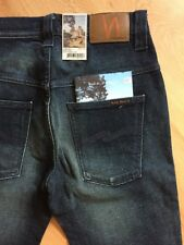 w28 w29 w34 L34 NEW booklet NUDIE jeans TAPE TED BLUE SMOKE slim skinny fit DARK