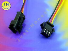 KIT BUCHSE+STECKER 3 polig / ways verdrahtet  Male+Female Connector wired #A912