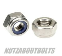 m3/4/5/6/8/10/12mm a2 acero inox inserto de nylon/nyloc tuercas fijación DIN985