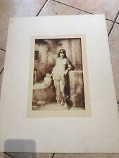 Gravure Art Nouveau Nu Féminin Circa 1920 BRAUN & C.
