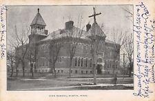 Austin Minnesota~High School~Trees Beginning to Bud 1907 Postcard