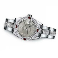 Women's Rolex Datejust middle diamond bracelet 31mm Slate Grey Roman Numeral Dia