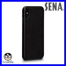 SENA Deen LeatherSkin - minimalist genuine leather case for iPhone XS Max, Black