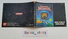 Nintendo NES Captain Skyhawk Notice / Instruction Manual