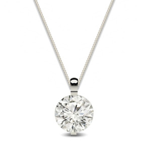 1.2 Ct Solitaire Signity Diamond Necklace Crafted In Sterling Silver
