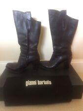 Rare Gianni Barbato Drk Chocolate Brown Bufalo Militare Boots, Size 8 / 38
