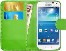 Premium Luxury Leather Flip Wallet Book Case Cover For Samsung Galaxy S4 Mini