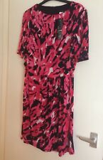 NEW Tina B Pink and Black Printed Dress Size 20
