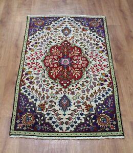 Traditional Vintage Wool Handmade Classic Oriental Areas Rug Carpet 124 X 73 cm