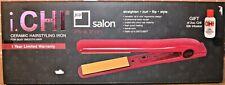 "Chi Ceramic JCP Salon Flat Iron Straightener 1"" Pink - #JC2099 - NEW"