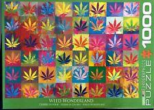 "Weed Wonderland Jigsaw Puzzle Eurographics 1000 Pieces Marijuana Leaves 19""x26"""