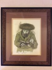 "Stunning Isaac Stern Signed Limited Edition 227/ 300 Lithograph "" The Kiddush ""."
