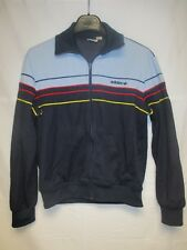 Veste ADIDAS vintage tracktop jacket giacca bleu marine 80's jacke 168 S VENTEX