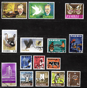 Zambia .. Collection of postage stamps .. 7424