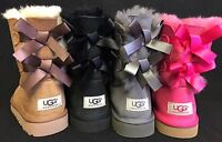 UGG AUSTRALIA Double BAILEY BOW CHESTNUT 3280 TODDLER Boots