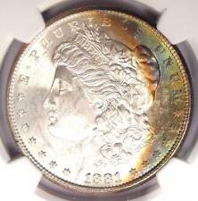 1881-S Toned Morgan Silver Dollar $1 - Certified NGC MS65 - Nice Rainbow Toning!