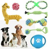 7pc Dog Rope Chew Toys Kit Tough Strong Knot Ball Pet Puppy Cotton Teething Toy