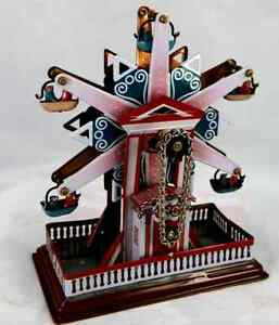 WIND-UP CLOCKWORK STAR  FERRIS WHEEL CHRISTMAS GIFT CLASSIC COLLECTIBLE Tin toy