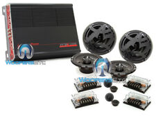 "pk 2 sets SPL AS60C 6.5"" COMPONENT SPEAKERS + PPI TRAX4.1200 4-CHANNEL AMPLIFIER"