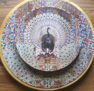 Vintage Springbok PEACOCK THRONE Circular Puzzle 1973  Excellent