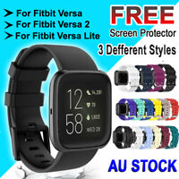 For Fitbit Versa Band /2/ Lite Silicone Strap Wristband Replacement Sports Bands