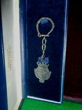 rare keychain silver marked with the emblem of Lisbon with box original