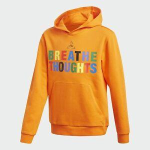 adidas Originals x Pharrell Williams Junior Hoodie Orange RRP £45 Human Race