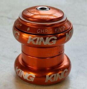 """Chris King NoThreadset 1 1/8"""" headset 1/8in Anodised Mango Orange"""