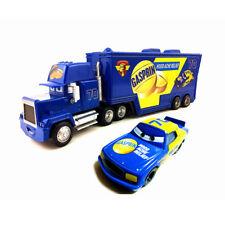 MT Cars NO. 70 GASPRIN Mack Hauler Truck & Racer Diecast Toy Car 1:55 Loose