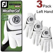 3 Pack FJ Unisex Weathersof Golf Gloves White Left Hand Brand New