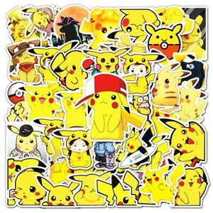 54 Pokemon Stickers Decorate Laptop Phone Books Tablets Party Bag Wall Decal UK