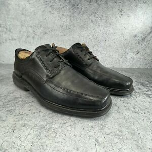 Clarks Unstructured Mens Black Leather Bicycle Toe Dress Shoes Size 11 M