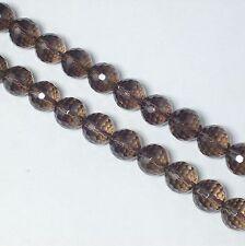 Strang Rauchquarz 12mm kugeln micro Facettiert Lose  Perlen