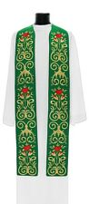Green Gothic Clergy Stole SH694-Z Vestment Étole Verte Grün Stola Verde Estola