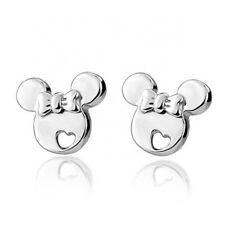 Sterling Silver Disney Minnie Mouse Earrings & Gift Box (UK Seller)